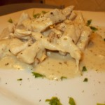 Straccetti di pollo gorgonzola e noci